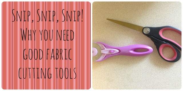fabric cutting tools cover with text