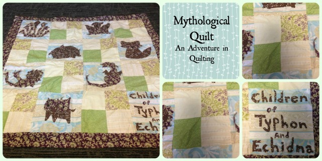 monster quilt cover with words