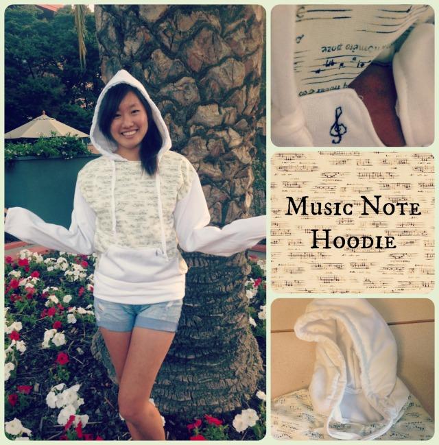 music note hoodie