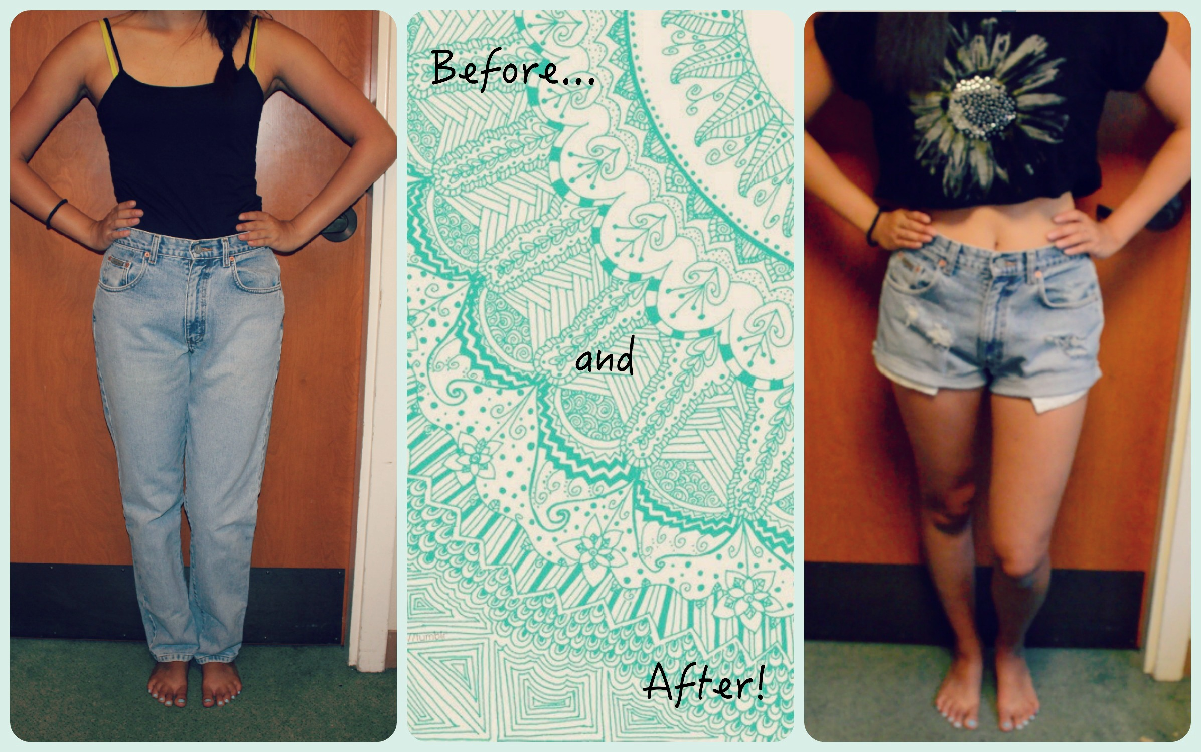 98de58835 Jean Upcycle: DIY High-Waisted Shorts | softwearhacks