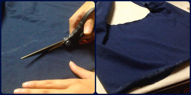 cutting and hemming collar