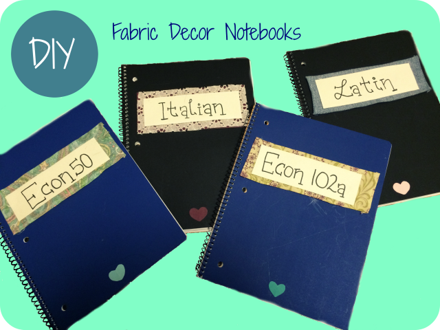fabric decor notebooks