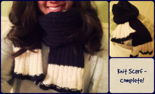 knit scarf - complete