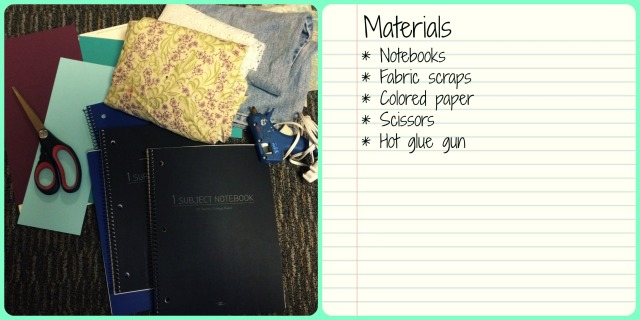 notebook decor materials list