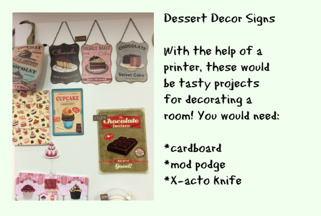 dessert decors signs