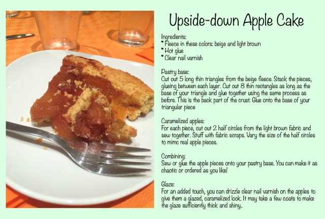 upside down apple cake instructions