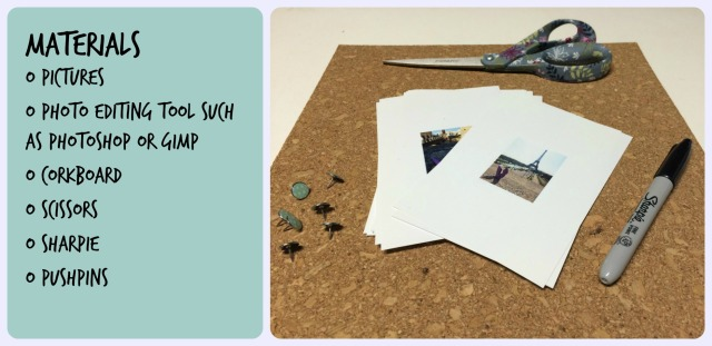 materials for corkboard
